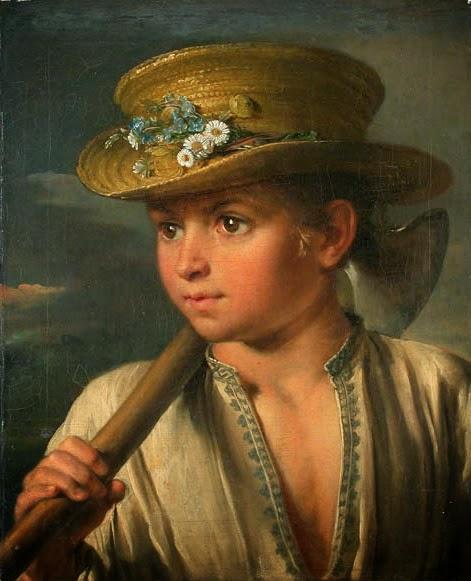 Vasily Tropinin - Boy With A Hatchet