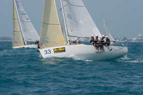 J/80 one-design sailboat- sailing Key West Race Week