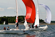 J/22 one-design sailboats- sailing in Germany