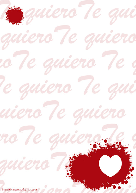Hojas decoradas para hacer cartas de amor - Imagui