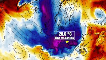 Το ένα ρεκόρ μετά το άλλο σπάει στο θέμα των αρνητικών θερμοκρασιών η αρκτική μάζα αέρα στην Ευρώπη