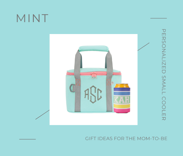 Personalized Small Cooler in Mint from Marleylilly.com
