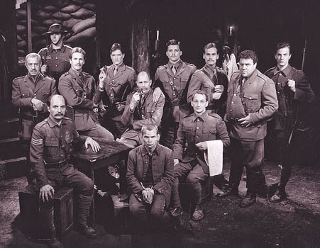 The cast of Journey's End at the Cast Theatre, Hollywood, CA 1982. (Note George (Cheers) Wendt behind me to my left.)