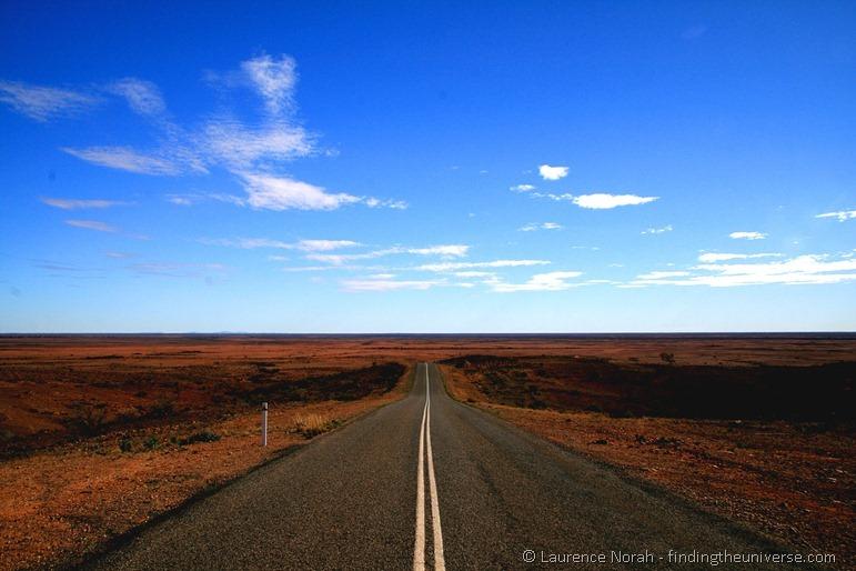 outback road mad max australia silverton