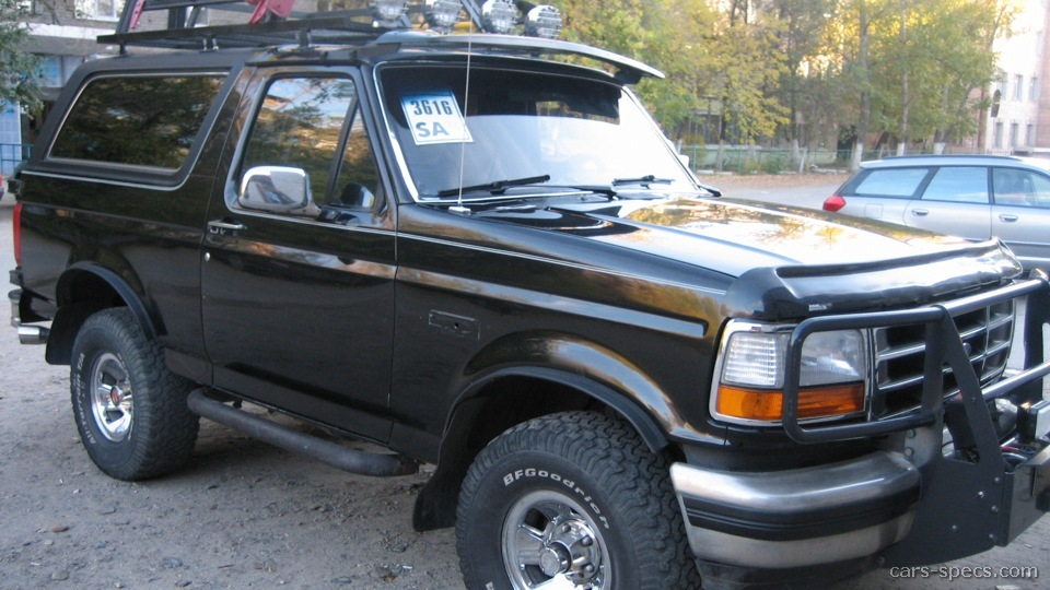 1994 Ford Bronco SUV Specifications, Pictures, Prices