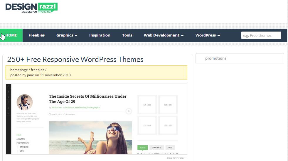 designrazzi free wordpress themes