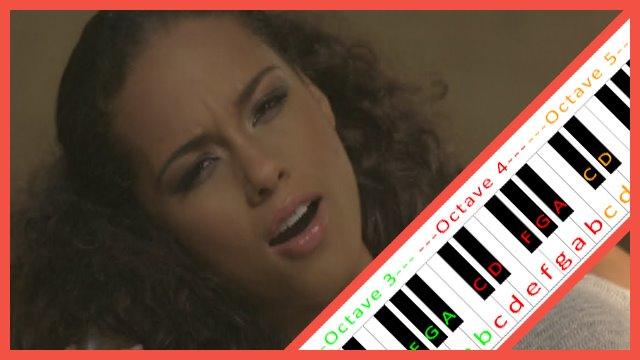 Alicia Note Piano One Names No Keys