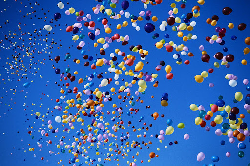 Balloons in Sky