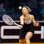 STUTTGART, GERMANY - APRIL 17 : Laura Siegemund in action at the 2016 Porsche Tennis Grand Prix