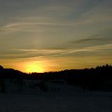 Solnedgang på Sjusete