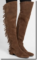 Saint Laurent Fringed Suede Over the Knee Boots