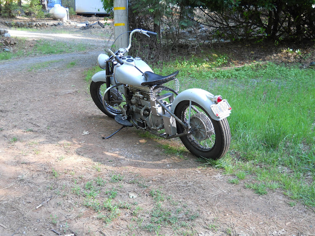 Part Indian, Crosley, Harley, BMW and lots of vintage WWII parts plus custom machined parts, built as if done in the 40's