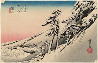 """Photo: Utagawa Hiroshige, """"Kameyama, sereno dopo la neve"""""""