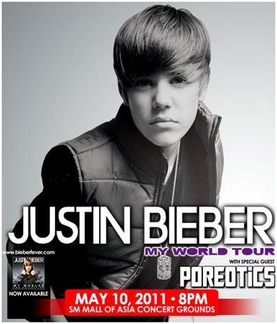 justin bieber world tour ticket. Show us your best Justin