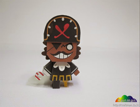Pirate Cookie Papercraft