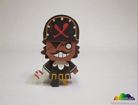 Pirate Cookie Papercraft