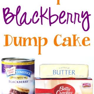 Crockpot Blackberry Dump Cake