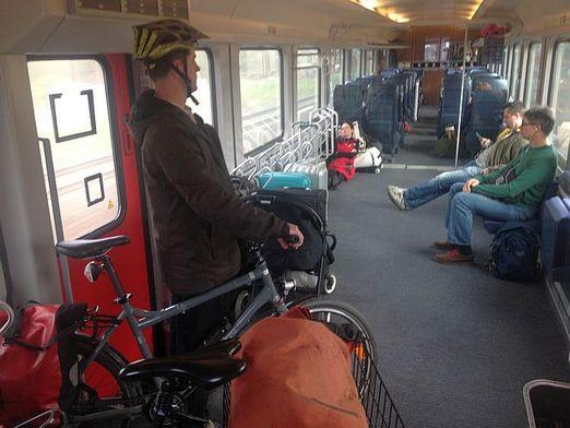 Rad-Abteil im EuroCity Darmstadt - Salzburg der Deutschen Bahn AG