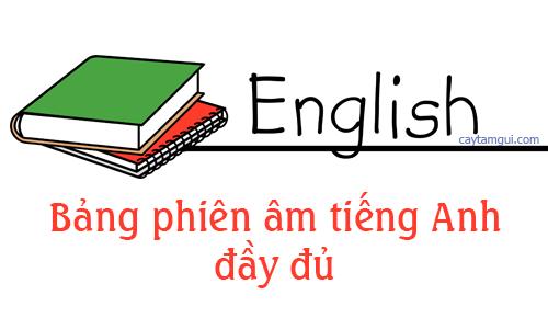 Bảng phiên âm đầy đủ 44 âm IPA trong tiếng Anh
