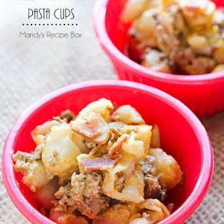 Cheesy Chipotle Pasta Cups