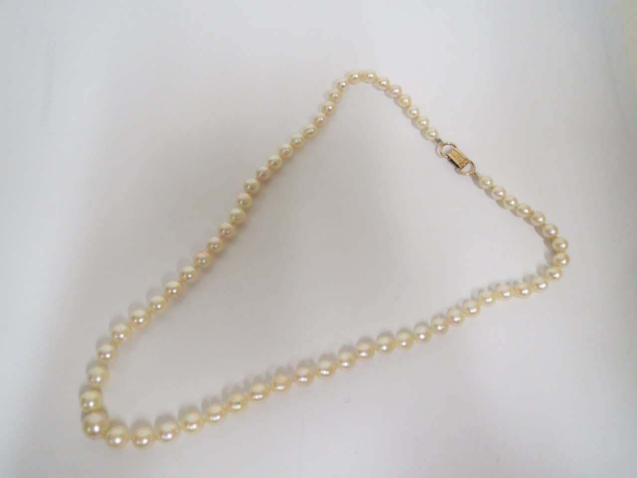 14kt and Pearl Necklace