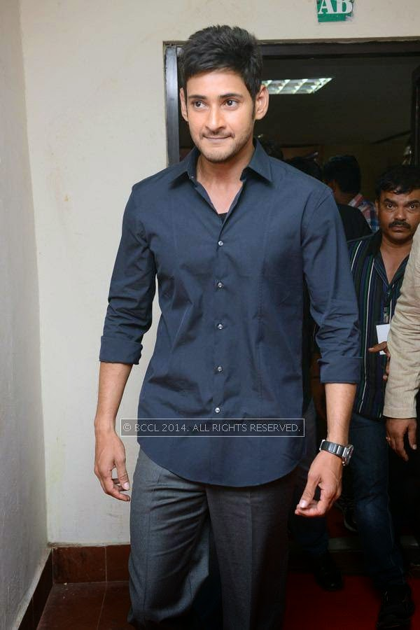 Mahesh Babu during the 61st Idea Filmfare Awards South, held at Jawaharlal Nehru Stadium in Chennai, on July 12, 2014.