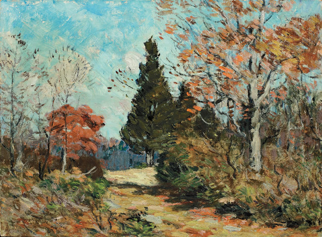 Clark Voorhees - Autumn, Old Lyme, Flat Rock Hill
