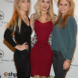 WWW.ENTSIMAGES.COM -   Ania Kubow,  Ashley James  and  Rosie Parkes  Whistle and  Bango Founders   at      Whistle and  Bango  launch party at Wolf and Badger, London October 23rd 2014Ashley James, Ania Kubow and Rosie Parkes are showcasing their new brand and bracelets at a celebrity studded press launch                                                 Photo Mobis Photos/OIC 0203 174 1069