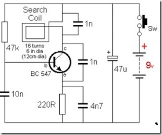 d i y gold detector schematic simple schematic collection rh simple schematic blogspot com gold detector circuit diagram and explanation gold detector circuit diagram pdf