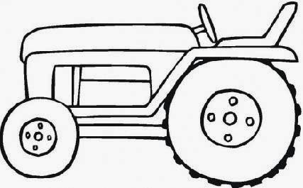 Tractor Pencil Coloring Coloring Pages