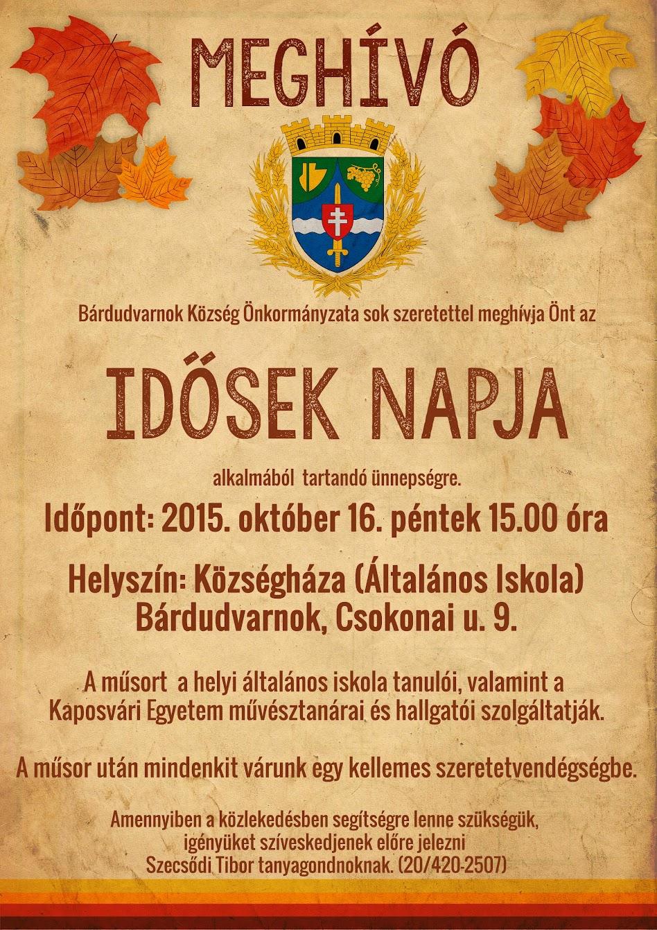 Idősek Napja Bárdudvarnok 2015