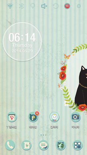 Lovely Black Cat Theme