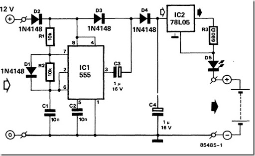 12 volt nicd battery charger design circuit diagram for your diy rh simple schematic blogspot com Simple Battery Charger Wiring Diagram Transformer Wiring Diagram Battery Charger