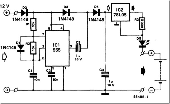12 volt nicd battery charger design circuit diagram for