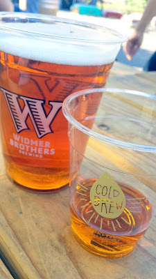 Drinks by Widmer Brothers beer and Buffalo Trace bourbon