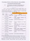 Commissioner of school education District wise Visit Schedule
