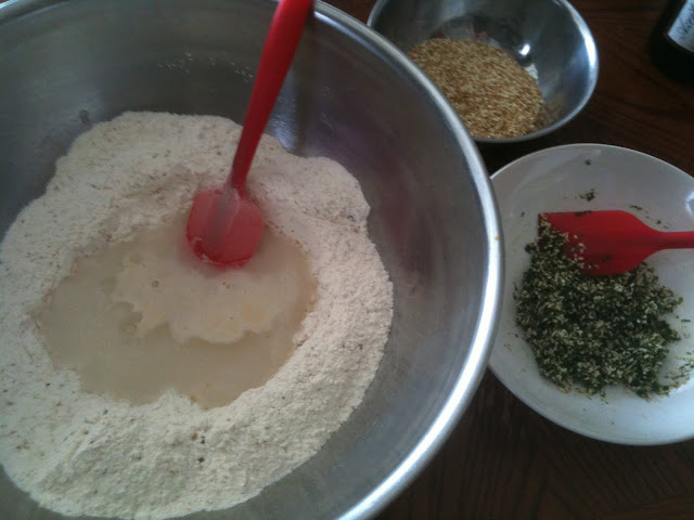 Very basic ingredients for  Middle Eastern flat bread