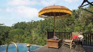 Kolam renang privasi di masing masing kamar Capella Ubud
