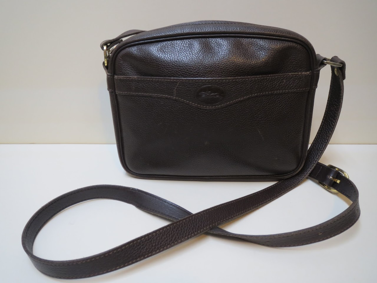 Longchamp Dark Brown Crossbody Bag