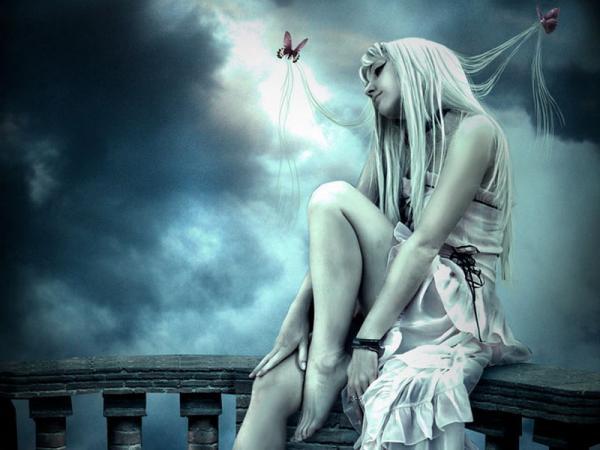 Butterflies In The Hair Of Girl, Magic Beauties 3