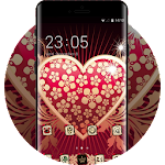 Valentine's Day theme heart patterns wallpaper Icon