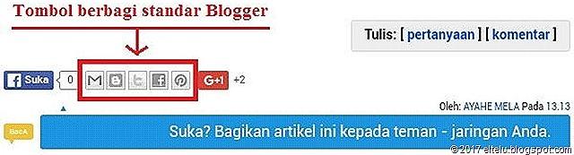 Tombol Berbagi Standar Blogger