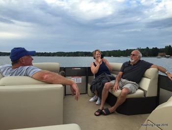 Enjoying our boat ride