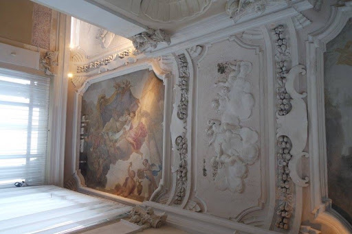 The painted ceiling of Wilanow Palace Museum Warsaw