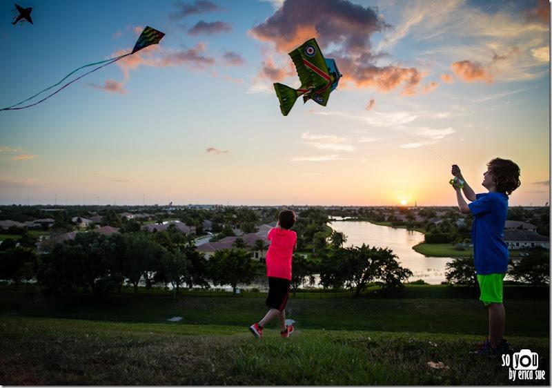 Kite Sunset silhouette-8638
