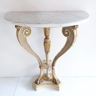 Maison Jansen Empire Style Marble Top Console