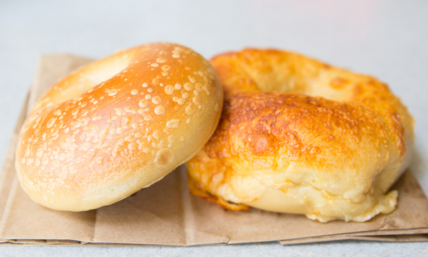 photo of Plain and Cheese Bagels