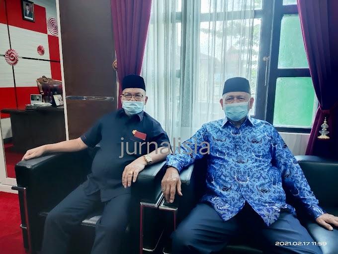 Jabatan Berakhir Wabup Tanah Bumbu Pamitan ke Ketua DPRD