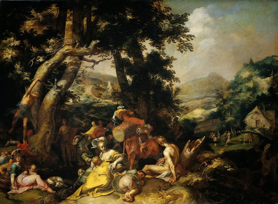Abraham Bloemaert - Landscape with the Ministry of John the Baptist