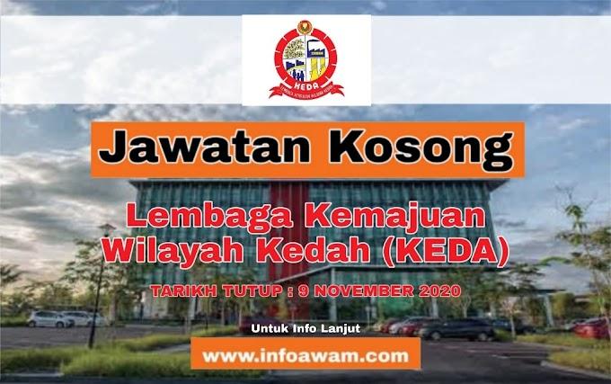 Jawatan Kosong Terkini Di Lembaga Kemajuan Wilayah Kedah (KEDA)
